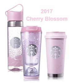 Starbucks KOREA Cherry Blossom Waterball, SS Elma, Clay Waterbottle SET #Starbucks