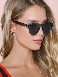 To find out about the Flat Lens Sunglasses at SHEIN, part of our latest Sunglasses ready to shop online today! Sunglasses Online, Sunglasses Accessories, Cat Eye Sunglasses, Sunglasses Women, Women Accessories, Black Sunglasses, Costa Sunglasses, Latest Sunglasses, Jamaica