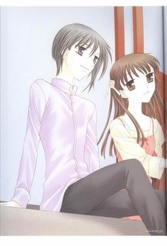 Yuki & Tohru, their cute together but tohru belongs with kyo.