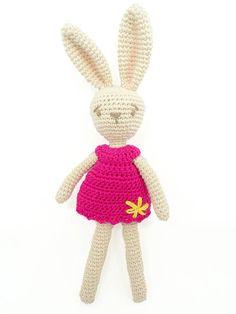 Camomille mon lapin adoré / poupée lapin /poupée fait main /