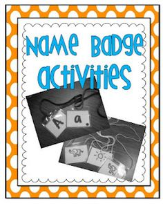 Little Minds at Work:FREEBIE Name Badge Activities!