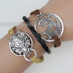 Dragon Bracelet Wolf Charm Bracelet Dragon and Final by TYdiy, $5.99