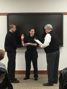 The first female firefighter, Jamie Burgasser, is sworn in at The New Philadelphia Fire Department.