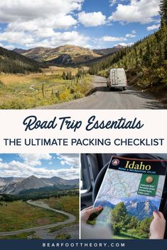 Get our complete road trip essentials packing checklist for adventure travelers including useful gear and necessities for an epic trip. Road Trip Essentials, Road Trip Packing, Travel Packing, Ways To Travel, Places To Travel, Travel Tips, Road Trip Snacks, Road Trips, Packing Checklist