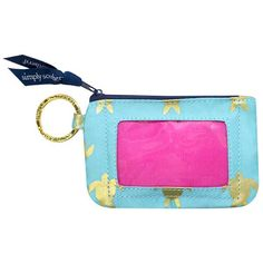 Simply Southern Collection Key ID Pouch in Gold Turtle Print KEYID-GOLDTURTLE