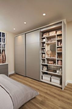 This beautiful contemporary willow bedroom has a range of stunning features including integrated headboard lighting and over bed storage. Wardrobe Interior Design, Wardrobe Door Designs, Wardrobe Design Bedroom, Room Design Bedroom, Closet Bedroom, Diy Bedroom, Large Living Room Furniture, Fitted Bedroom Furniture, Fitted Bedrooms