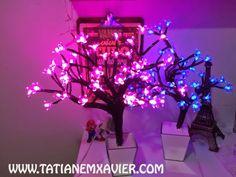 Diy Passo a passo de Como fazer a Árvore Luminária da Imaginarium | Árvore com flores de luzes