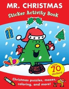 NEW Mr. Christmas Sticker Activity Book (Mr. Men and Little Miss)