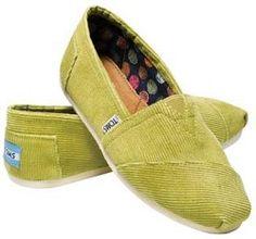 TOMS Women's Mustard Classic Corduroy Shoe
