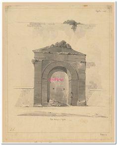 Porte Antique à Ispello : [vue Perspective] : [dessin] / H.