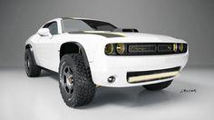 Off-road Dodge Challenger Hellcat? One designer asks why not.