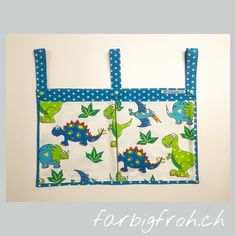 www.farbigfroh.ch doppelte Betttasche #Betttasche #Betttaschen #Bettutensilo Reusable Tote Bags, Dressmaking, Bags
