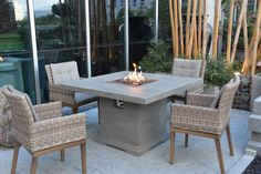 Propane Fire Pit Table, Round Fire Pit Table, Gas Fire Table, Outdoor Dining, Outdoor Decor, Patio Dining, Outdoor Ideas, Outdoor Fire Pit Table, Landscaping