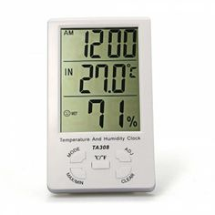 [$9.34] LCD Indoor Outdoor Digital Hygrometer Humidity Thermometer Temperature Meter