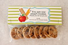 smart cookies - fun lunch treat on test day!