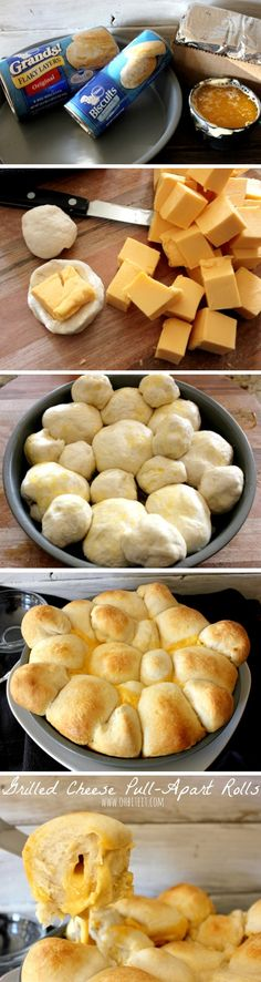 Grilled Cheese Pull-Apart Rolls. Brilliant