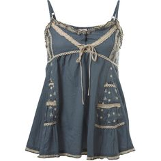 Blue Trim Cami (49 CAD) ❤ liked on Polyvore featuring tops, shirts, tank tops, tanks, women's tops, blue shirt, blue cami, camisole tank, cotton camisole and cami tank tops