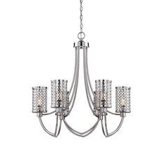 Savoy House Fairview 6-Light Chandelier in Polished Nickel in Ceiling Lights, Chandeliers, Indoor Chandeliers: LeeLighting.com