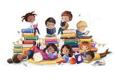 Illustration For Scheff Libraries Reading Art, Kids Reading, Children's Book Illustration, Character Illustration, Capas Kindle, Book Wallpaper, Book Drawing, Cartoon Art, Childrens Books