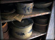 Old Crocks, Prim Decor, Primitives, Coffee Cans, Jars, Canning, Pots, Jar, Vases