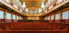 Inside view of the Golden Hall of the Musikverein in #Vienna , Italy .
