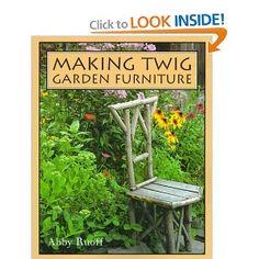 Making Twig Garden Furniture twig project, fairi furnitur, rustic garden, garden furniture, gardens, garden goodi, twig garden