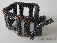 Using uneven glass beads 8/o's of unknown origin!