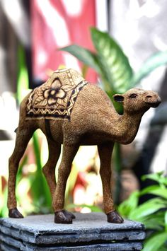 Hand carved wooden camel woodworking figurine  from crafts, gifts and souvenir by DaWanda.com  #figurine #wood #camel #woodworking #handycraft #carve #sculpture #chisel #engraving #statue #carving