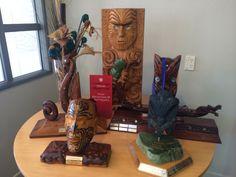 Taonga at Aunty Annie's, Rotorua Annie, Bookends, Home Decor, Maori, Homemade Home Decor, Interior Design, Home Interiors, Decoration Home, Home Decoration