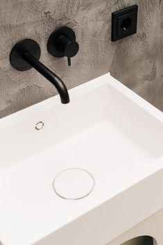 Stylish and minimalist bathroom sink and armature at Hotel The Maximilian in Salzburg, Austria Salzburg Austria, Minimalist Bathroom, Sink, Interiors, Stylish, Sink Tops, Vessel Sink, Vanity Basin, Sinks