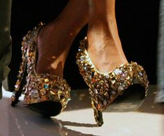 I have a few crazy shoes - but these are great!  Have a friend who would so wear these!