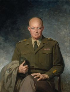 A 1947 portrait of General Eisenhower in his military uniform, painted by his close personal friend Thomas Edgar Stephens. During the sitting process, Stephens handed Eisenhower the brush and convinced him to give painting a try - within a month, it became one of Eisenhower's favorite hobbies. Get this print for 20% off using the code VP20 at checkout on VintPrint.com!