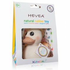 teether & natural rubber duck