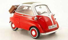 To collect or to make a gift, buy your Bmw Isetta Revell diecast model cars. Bmw Isetta, Miniature Cars, Tin Toys, Diecast Model Cars, Small Cars, Concept Cars, Red And White, Classic Cars, Mini Coopers