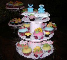 Cupcakes novios ositos