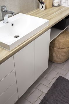 WC:n muodonmuutos - Sisustuskuva jäseneltä heidi_hajottamo - StyleRoom. Laundry Room Bathroom, Bathroom Toilets, Basement Renovations, Dream Bathrooms, My Dream Home, New Homes, Interior Design, Interior Ideas, Home Decor