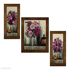 Paintings & Posters Alluring Decorative Wall Paintings Material: Synthetic Size: (L X W) Images 1 - 5.2 in X 12.5 in Image 2 - 9.5 in X 12.5 in image 3 - 5.2 in X 12.5 in Description: It Has 3 Pieces Of Wall Paintings Work: Printed Country of Origin: India Sizes Available: Free Size   Catalog Rating: ★4 (433)  Catalog Name: Alluring Decorative Wall Paintings CatalogID_727109 C127-SC1611 Code: 503-4962390-336