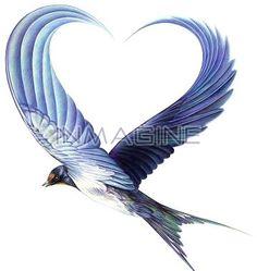 "Flying Bird Wings Forming Heart Tattoo Design, For Kora Eileen (""maiden""/""heart"". - Flying Bird Wings Forming Heart Tattoo Design, For Kora Eileen (""maiden""/""heart"" and ""bir - Simple Bird Tattoo, Tattoo Bird, Tattoo Mom, Heart With Wings Tattoo, Tattoo Wings, Robin Bird Tattoos, Wing Tattoo Designs, Origami Tattoo, Bird Wings"