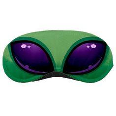 Sleeping Mask Sleep Green Alien
