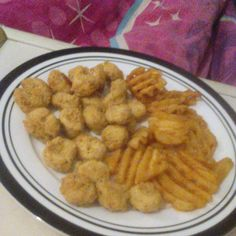 Popcorn Chicken and Criss-Cross Fries @ my living room