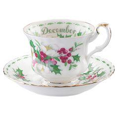 Royal Albert Flower of the Month December Teacup & Saucer
