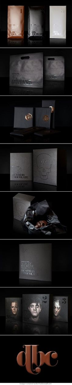 Student Spotlight: Death By Chocolate Death by chocolate packaging just for you and curated by Packaging Diva PD : ) Coffee Packaging, Pretty Packaging, Brand Packaging, Packaging Design, Branding Design, Bottle Packaging, Death By Chocolate, Chocolate Chocolate, Chocolate Brands
