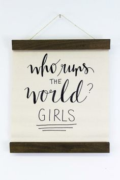 Who runs the world? Girls! An exclusive design for www.mooreaseal.com by Jenny Highsmith <3