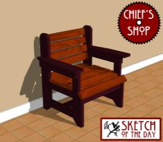 Sketch of the Day: Rustic Foyer Chair