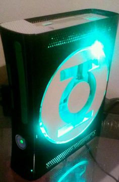 Green lantern x box 360 Geek Games, Xbox 360 Games, Fun Games, Geeks, Xbox Accessories, Custom Consoles, Xbox 360 Console, Getting Played, Video Game Console