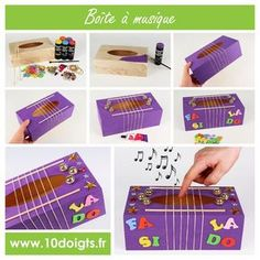 These homemade musical instruments for kids are awesome! Great DIY music instruments for preschoolers and kids - love music activities for children! Music Instruments Diy, Instrument Craft, Homemade Musical Instruments, Projects For Kids, Diy For Kids, Crafts For Kids, Toddler Crafts, Infant Activities, Activities For Kids