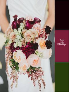 5 Fall Inspired Wedding Color Palettes - Rustic Folk Weddings | Click on the link to see all the palettes.