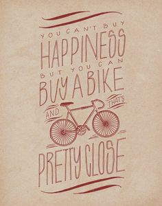 This is pretty true. Got a bike finally after years and years of not having one and it literally kept me sane at times. Felt stressed or anxious, got on the bike, went a couple times around the neighborhood, and felt lots better.