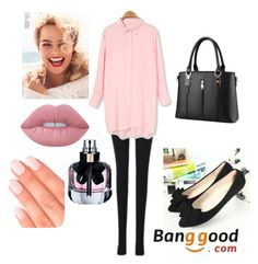 """#19/2 Banggood"" by ahmetovic-mirzeta ❤ liked on Polyvore featuring Lime Crime, Yves Saint Laurent and Elegant Touch"