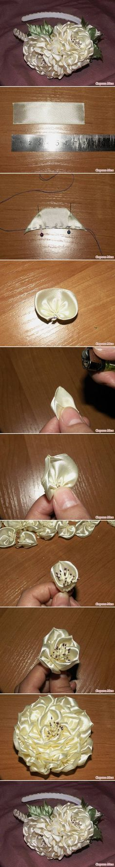 DIY Ribbon Lush Flower